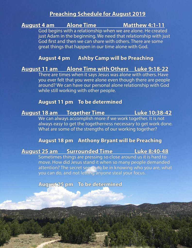 Preaching Schedule - Mesa Church of Christ